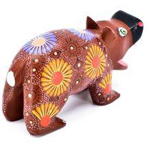 Handmade Oaxacan Alebrijes Copal Wood Carving Folk Art Hippopotamus Hippo Figure image 4