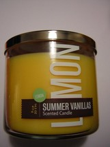 Bath and Body Works Lemon Vanilla 3 Wick Candle - $100.00