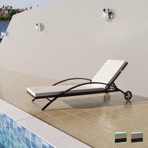 vidaXL Patio Rattan Wicker Pool Sunbed Lounger Garden Chaise Chair 2 Colors - $116.99