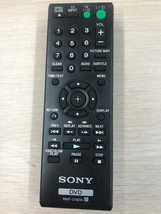 SONY RMT-D197A DVD Remote Control - Tested & Cleaned                        (M8)