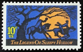 1974 10c Sleepy Hollow, Headless Horseman, Irving Scott 1548 Mint F/VF NH - $0.99