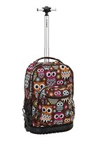 "Rockland 19"" Rolling Backpack, Owl - $61.53"