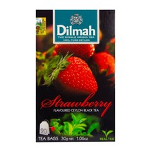 CEYLON black tea 20 bags - 30g Dilmah Strawberry flavored - $7.13
