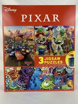 Disney Pixar Cars Toy Story Monster inc Jigsaw Puzzle 3 Pack with Glue - $46.44
