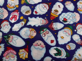 "Daisy Kingdom 1998 all over santa face 3654 fabric cotton 3 yards 44"" - $29.69"
