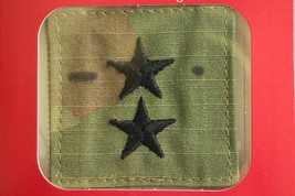 Us Army Gi Multicam Ocp O-8 Mg Hook Back Camouflage Camo Uniform Rank Patch - $5.93