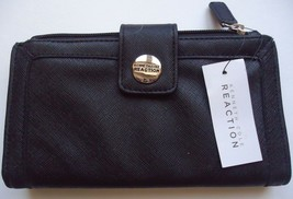 Kenneth Cole Reaction Tab Clutch Wallet, Black - $22.27