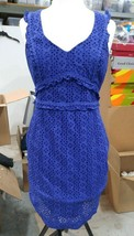 Lilly Pulitzer Kaylee Shift Dress Size 14 Lapis Lazuli Petite Petal  - $85.49
