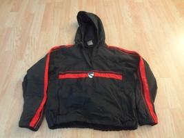 Women's Nike S (4/6) Windbreaker Pullover Jacket (Navy Blue & Red) (R) - $14.01