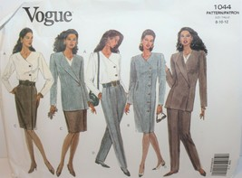 Vogue Sewing Pattern 1044 Misses Jacket Dress Top Skirt Pants Career Wea... - $19.34