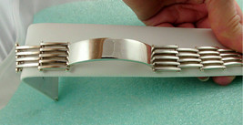 Tiffany & Co Gatelink Gate Link I.D. Bracelet Sterling Silver 66g Rare! ... - $412.25