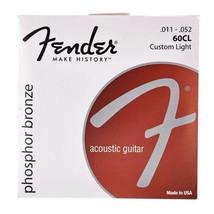 Fender 60CL Phosphor Bronze Acoustic Guitar Strings, Custom Light, 11-52 - $11.49