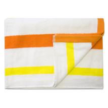 Jumbo Calypso Stripe Cabana Beach Pool Cotton Towel 30 x 60 Mango/Lemon ... - €27,00 EUR