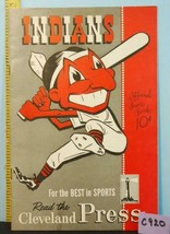 1948 Cleveland Indians Baseball Program v Detroit Tigers UNS. C920 - $49.01