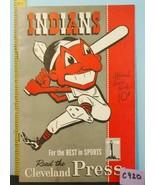 1948 Cleveland Indians Baseball Program v Detroit Tigers UNS. C920 - $49.01