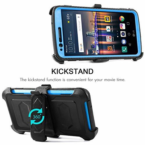 LG Stylo 3 Case,LG Stylo 3 Plus/LG Stylus 3 Case,HOKOO [Built-in Screen (Blue)