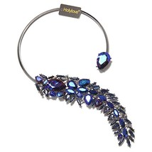 Holylove Women Statement Necklace Blue, Costume Necklace for Women Novel... - $19.36