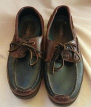 Sperry Top Sider Mako Canoe Deck Shoes Black Brown 2-eye  Leather Mens 9... - $27.72
