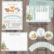 Winter Woodland Party Package, Personalized, Invitation, Party Decorations - $28.00