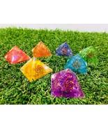 7 Pcs Seven Chakra Onyx Oregon Pyramid Reiki Gemstone Healing Energy Gen... - $13.49