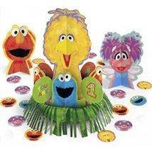 amscan Sesame Street 1St Birthday Party Table Decorating Kit (4 Piece), Multicol - $9.85