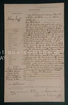 1900 antique CRIMINAL LEGAL WARRANT lebanon pa NEFF LARCENY STOLEN GOODS... - $68.95