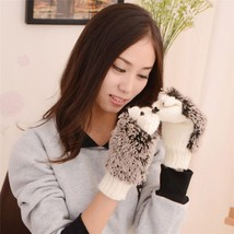 Winter Hedgehog Gloves For Women/Girls Cute And Adorable Is Warm Cartoon... - $12.97