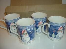 4 Noritake Epoch Mr Snowman Mugs - $34.99
