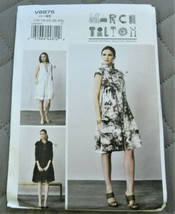 Pattern Vogue Designer Dress Loose Fitting March Tilton V8876 Uncut - $19.78