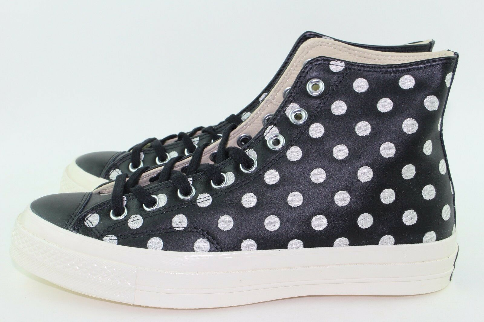 "Primary image for Converse CTAS ""POLKA DOT"" Men Size: 8.0 Woman size 10.0 Black White New Rare"