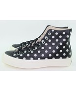 "Converse CTAS ""POLKA DOT"" Men Size: 8.0 Woman size 10.0 Black White New ... - £87.20 GBP"