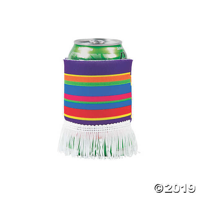 12 - Fiesta Party Fringe Poncho Can covers - $15.49