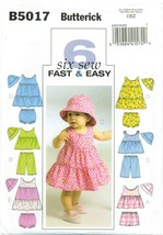 Butterick 5017 Infant Baby 6 Six Sew Fast & Easy Summer Dress pattern UN... - $10.90