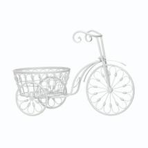 White Planter, Modern White Iron Bicycle Outdoor Large Planters - $39.08