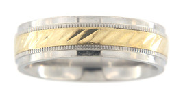 Men's 10kt Stainless Steel & Gold Wedding band - $39.00
