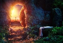 OFILA Empty Tomb Backdrop 6x4ft Crucifixion Resurrection of Jesus Christ... - $16.54