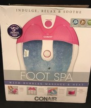 Conair Foot Spa with Bubbles Vibration and Heat Soothing Massage & Heat - $24.99
