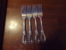 "4 Oneida Heirloom Cube Mark Toujours Dinner Forks 7 1/4"" (1) - $109.00"