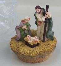 "Home Interiors Baby Jesus Nativity Candle Jar Stopper 2"" Diam Cork Chris... - $12.89"