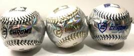Lot Of 3 Franklin Sports Baseball MLB Soft Strike Chrome Metallic Tee Ba... - $19.75