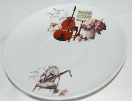 Aim Gifts Music Upright Bass Saxophone Cup and Saucer Set Comes in Gift Box image 4