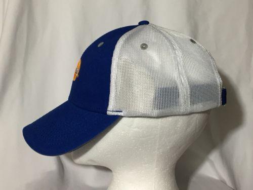 Reebok MASTERCARD Logo Mesh Hat Blue Cotton Twill Nylon Mesh Baseball Cap  New 6ac1fa4bbe21