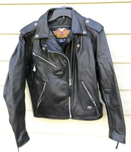 Harley Davidson Women Motorcycle Genuine Leather Jacket - Medium (MADE I... - $297.00