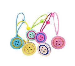 Set of 12 Cartoon Design Hair Tie Bands Rubber Ropes Hair Rings, Buttons Style