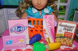 """18"""" Doll Grocery Shopping Basket Play Food Lot fits Our Generation American Girl - $14.84"""