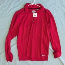 Herren Callaway Golf Blaze Rot Knopfleiste Polo 1/4 Zip Hemd M Nwt Dq - $59.03