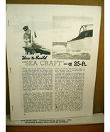 """Copy of Manual How To Build """"Sea Craft"""" a 25 ft. Cabin Cruiser - $8.99"""