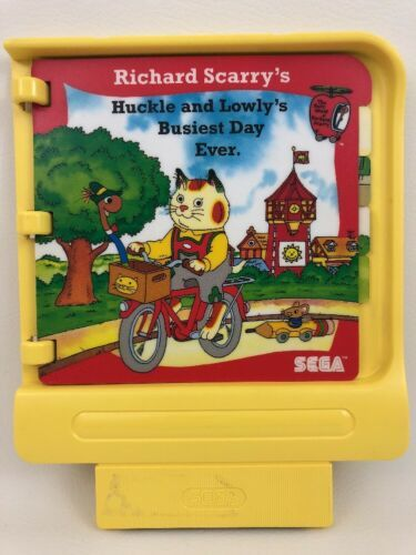 Pico Sega Game Cartridge Richard Scarry's Busiest Day Ever Vintage 90s Gaming