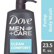 Dove Men+Care Body Wash Pump, Clean Comfort 23.5 oz - $16.68