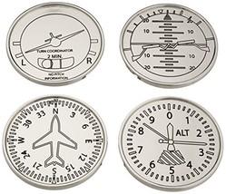GODINGER SILVER ART Airplane Coasters, Set of 4 - $19.04
